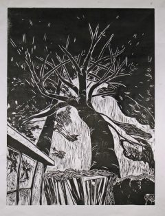 "Springhill Proof Woodcut Proof 24"" x 32"" image"