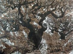 Big Treee - Woodblock Print - Two Blocks