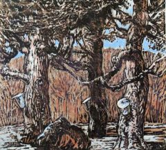 Freelton - Woodblock Print Hand Coloured